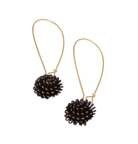Floral Burst Drop Earrings