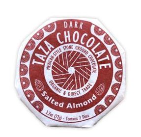 Fair Trade Organic Taza Salted Almond Chocolate Disc