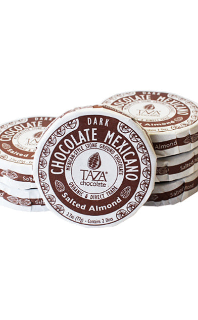 Taza Salted Almond Chocolate Mexicano Discs