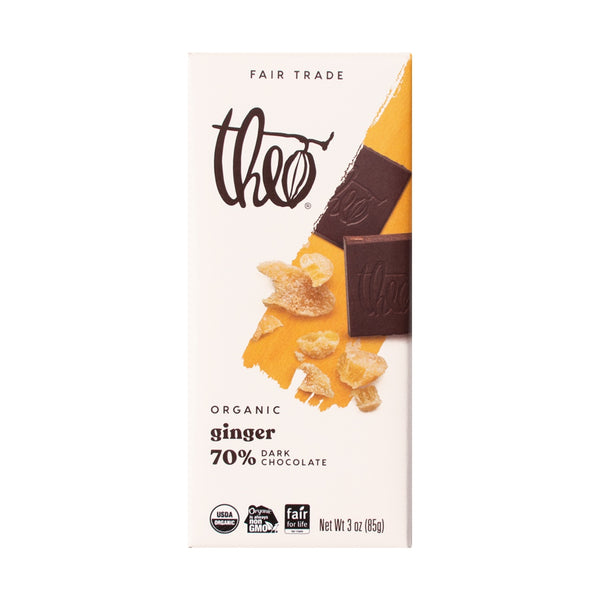 Fair Trade Organic Theo Ginger Chocolate Bar
