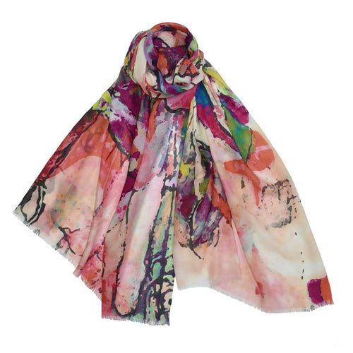 Miranda Abstract Portrait Scarf