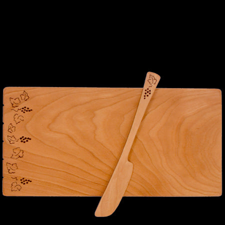 Sustainable Cherry Wood Grapevine Cheese Board