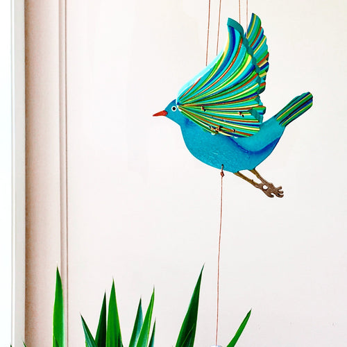 Blue Bird of Happiness (Sparrow) Flying Mobile