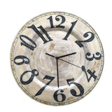 Clock Wall Decor Pearl With Black Numbers