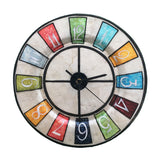 Clock Wall Decor with Multi Color Numbers