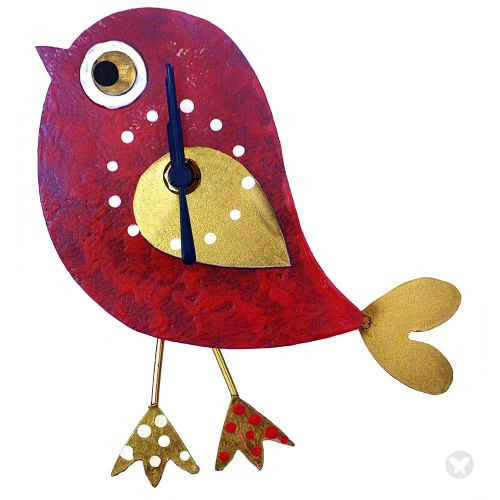 Red Bird Wall Clock