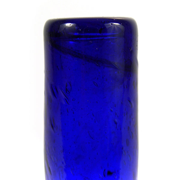 Blue Recycled Glass Vase