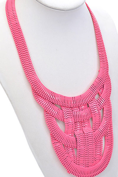 Braided Zipper Necklace