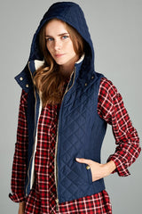 Quilted Hoodie Vest