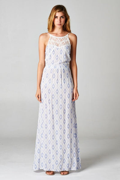 Lindsay Lavender Maxi Dress