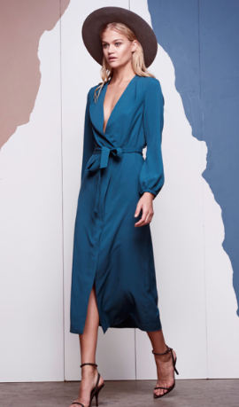 Runway Maxi Dress (Teal)
