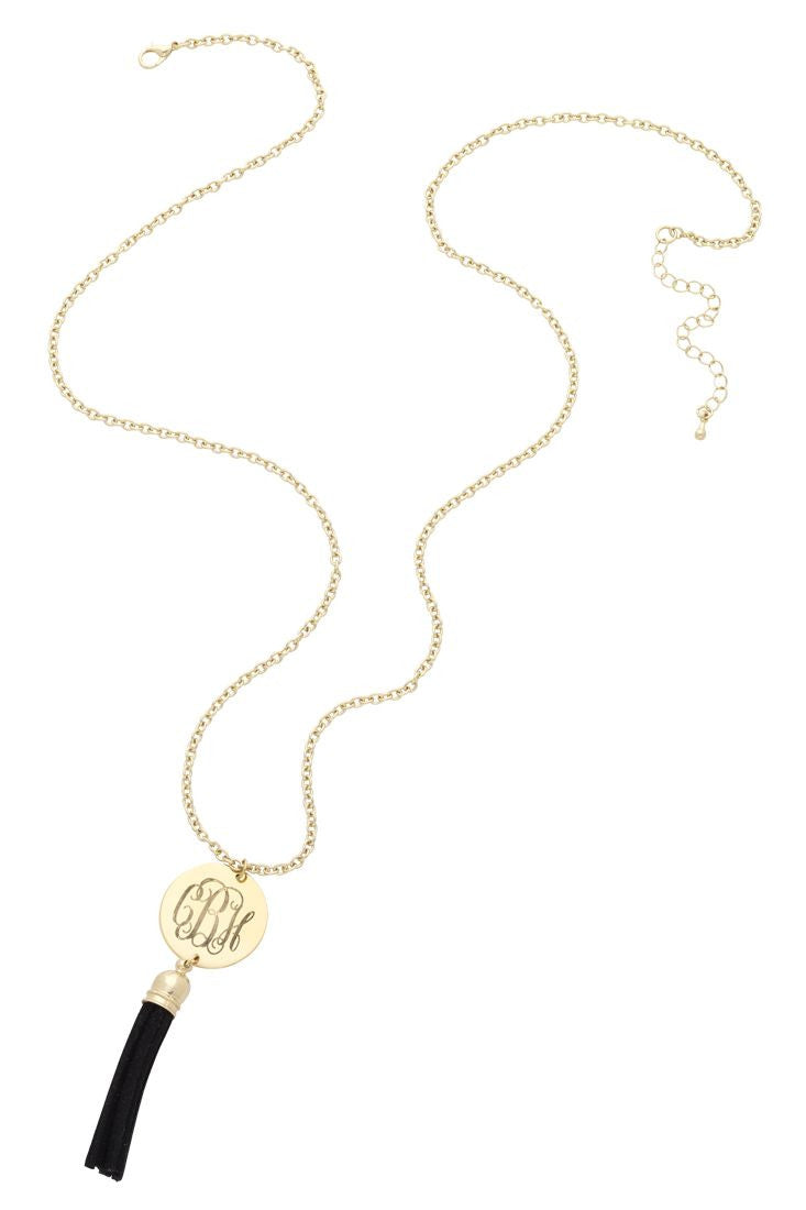 Monogrammed Tassel Necklace