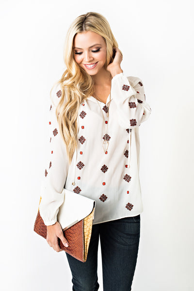 Greenwich Peasant Top
