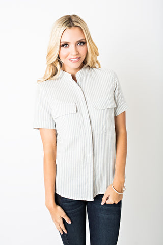 Genevieve Button Up Top