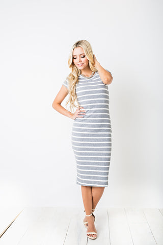 Cassidy Striped Knit Dress
