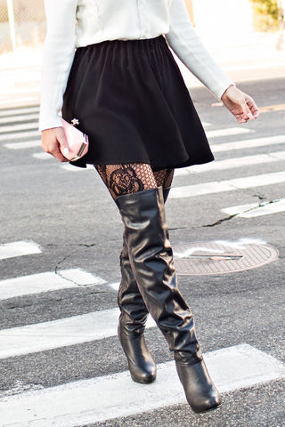 Etched Rose Tights