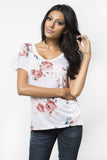 Wild Rose V-Neck T-Shirt