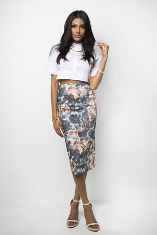 Cezanne Midi Pencil Skirt