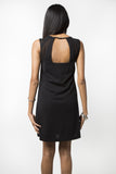 Black Ray Shift Dress