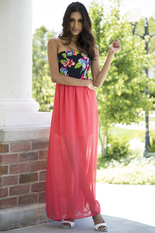 Calypso Cove Strapless Maxi Dress