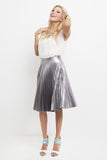 Rebel Prep Pleated Midi Skirt