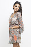Joplin Print Chiffon Surplice Dress