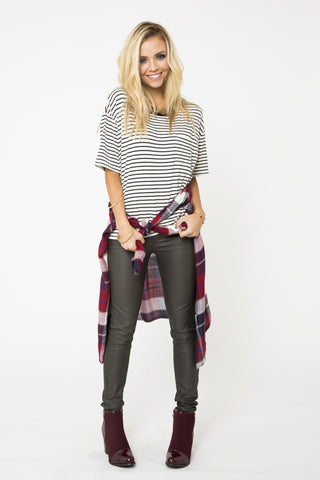 Maren Striped Pocket T-Shirt