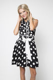Dot and Sash Tank Dress
