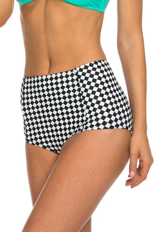 Checked Swim Briefs