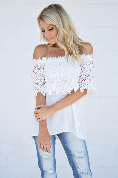 Lacey Off-The-Shoulder Top