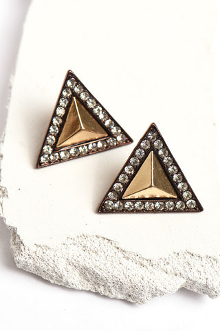 1980's inspired triangle earrings
