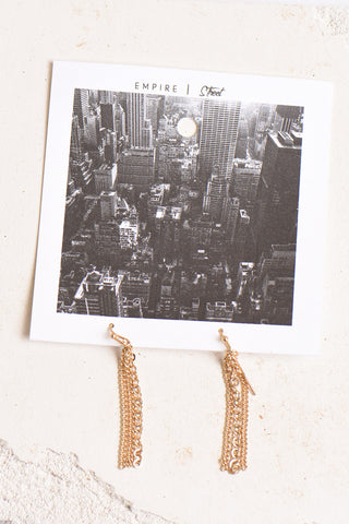 Empire Street chain earrings