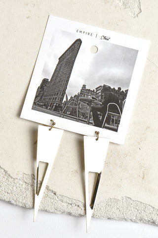 Empire Street triangle cutout earrings