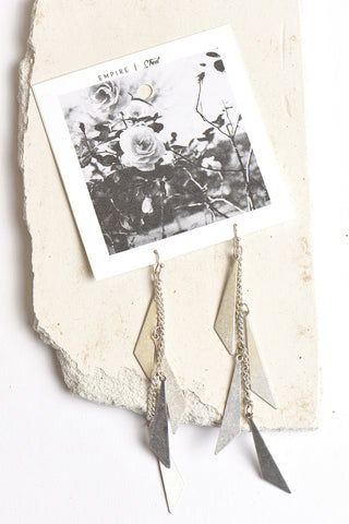 Empire Street triangle chandelier earrings