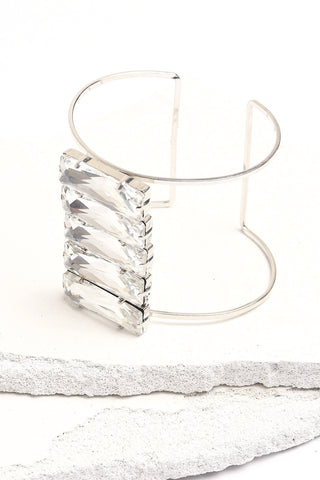 Silver bling cuff