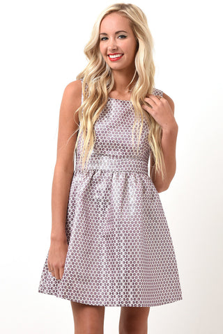 Lilac polka dot dress