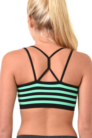 Striped sports bra
