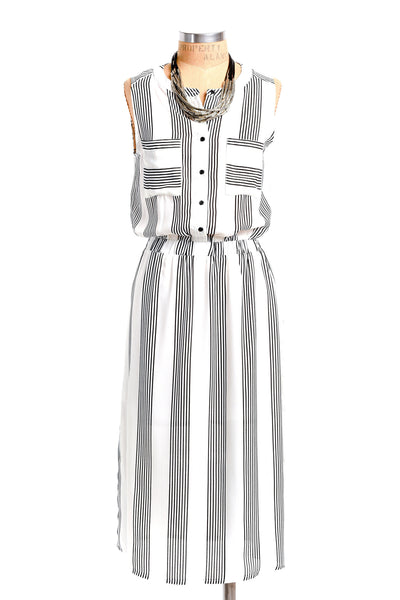 Multi Stripe Tank Popover Dress