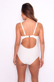 White Floral Mesh One-Piece