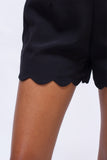 Anna Scalloped Hem Shorts