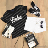 Embrace your inner babe baseball tee shirt