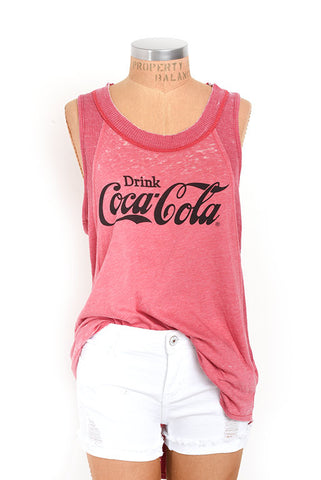 Vintage inspired Coke tank top