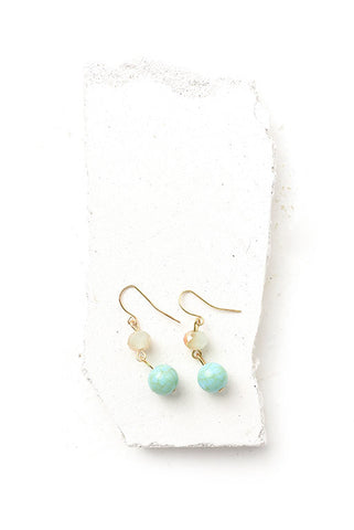 Eris turquoise bead earrings