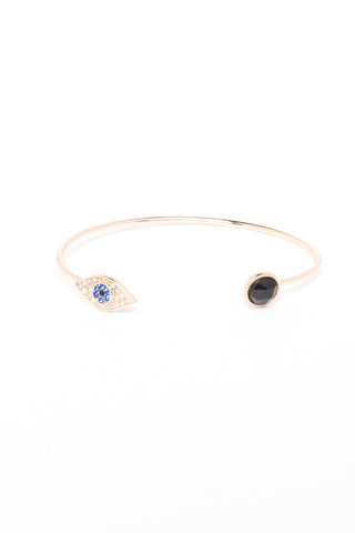 Eye and Disc Bangle Bracelet