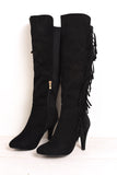 Dixie knee high fringe boot