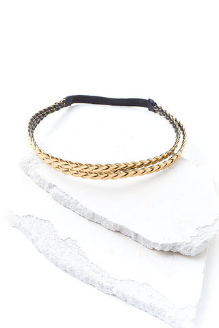 Golden goddess braided headband