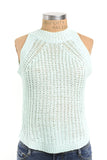 Mint green knit tank