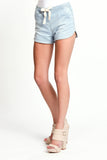 Soft Denim Jogger Shorts