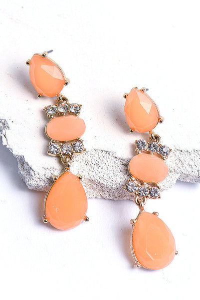 Tangerine Teardrop Earrings