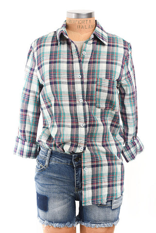 Lake district button down plaid top